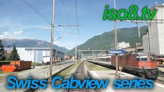 Airolo Switzerland  city pictures gallery : [FHD60p] CabView : SBB Re4/4, Switzerland Vol.1 Climbing Gotthard-pass