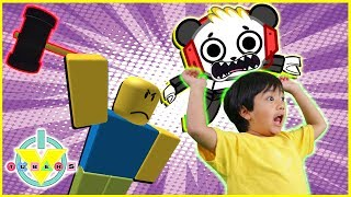 Roblox Flee the Facility RUN FROM THE BEAST Let's Play with Ryan ToysReview and Combo Panda