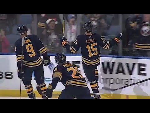 Video: Gotta See It: Eichel scores twice in 10 seconds to complete the 'Jack-trick'