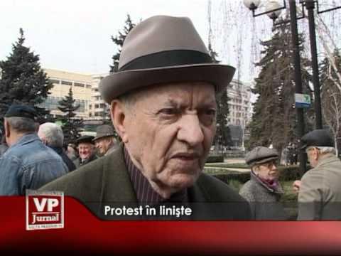 Protest în linişte