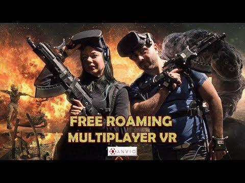 First Free-Roaming Multiplayer Full Body VR Game (Anvio London)