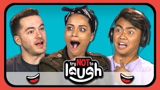 Video YouTubers React To Try To Watch This Without Laughing Or Grinning #11 MP3, 3GP, MP4, WEBM, AVI, FLV Desember 2018