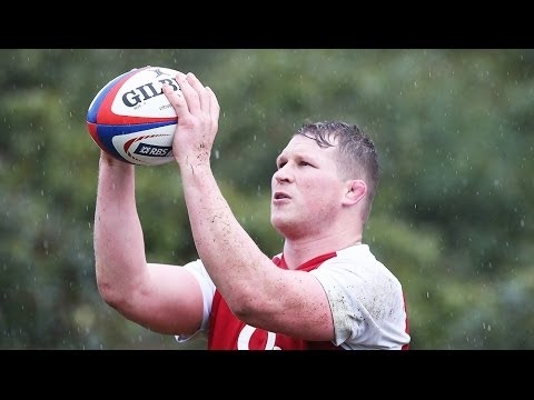 England's Dylan Hartley on the lineout
