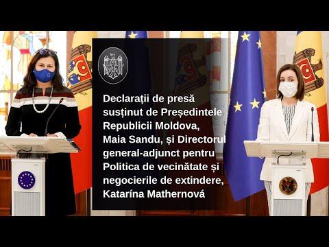Declarația Președintelui Republicii Moldova, Maia Sandu, după întrevederea cu delegația Comisiei Europene sosită la Chișinău pentru prezentarea Planului de redresare economică oferit de Uniunea Europeană