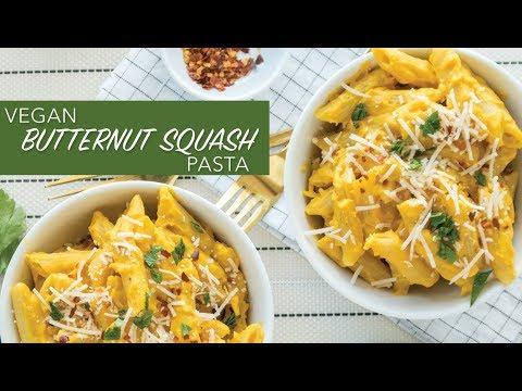BUTTERNUT SQUASH MAC AND CHEESE | Vegan Pasta Recipe | The Edgy Veg