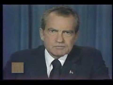President Richard Nixon - Address Announcing Resignation