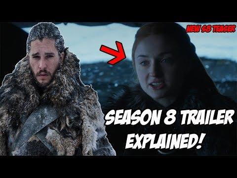 NEW Season 8 TRAILER Explained! Game Of Thrones Season 8 (Spoilers)