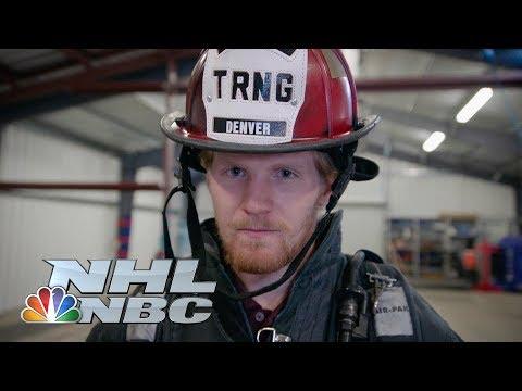 Video: Avalanche's Gabriel Landeskog visits Denver's fire training facility I NHL I NBC Sports