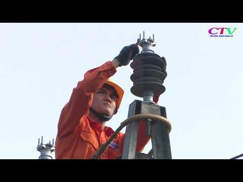 Điện lực Cam Lộ đẩy nhanh tiến độ thi công các công trình trọng điểm