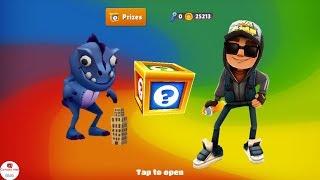 Subway Surfers Gameplay - Unlocked Dino Facebook Special vs Jake Dark Outfit / Cartoons Mee