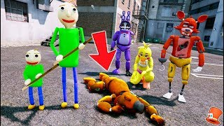 DETECTIVE BALDI & ADVENTURE BALDI! WHO KILLED WITHERED FREDDY? (GTA 5 Mods FNAF RedHatter)