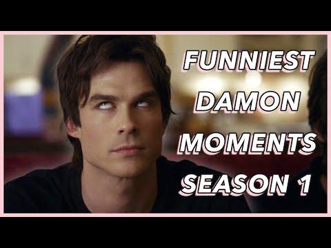Funniest Damon Salvatore Moments | Season 1