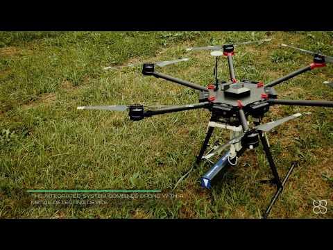 Drone with Metal, Gold & Treasure Detector KTS GPA 1000 or GPA 3000