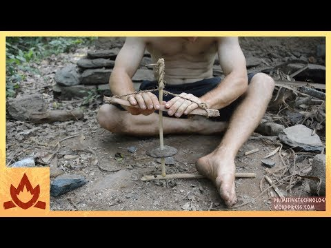 How To Build A Primitive Drill Out Of Sticks Stone And