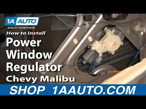 How To Install Replace Rear Power Window Regulator Chevy Malibu 04-08 1AAuto.com