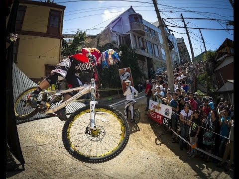 POV - Click here http://win.gs/1lxRNQQ for your daily dose of MTB action! Follow Filip Polc and Marcelo Gutierrez side-by-side in this intense downhill MTB POV foo...