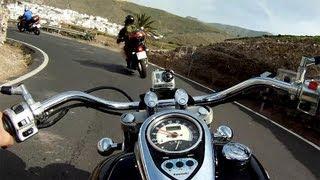 4. Kawasaki vn900 Vulcan Classic, Real sound, Overtakings, GoPro, Motorbike Gran Canaria