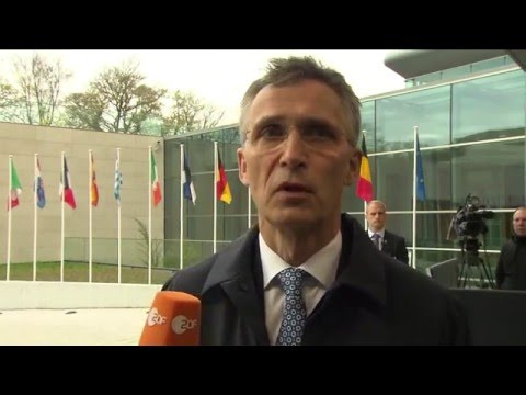 Doorstep by NATO Secretary General Jens Stoltenberg at EU Foreign Affairs Council
