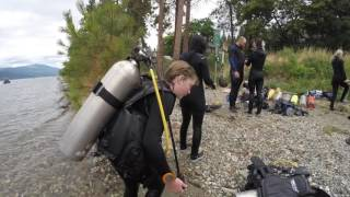 PADI open water dives number 1 and 2. Okanagan Centre Beach with Diving Dynamics.