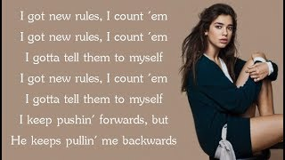 Video Dua Lipa - NEW RULES (Lyrics) MP3, 3GP, MP4, WEBM, AVI, FLV Mei 2018