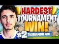 MY HARDEST PRO TOURNAMENT WIN ON FORTNITE BATTLE ROYALE