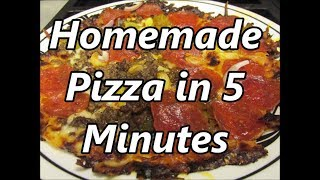 Tortilla crust Pizza in 5 minutes by Louisiana Cajun Recipes