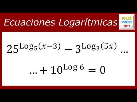 Ecuación con logaritmos en los exponentes