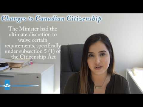 Changes to Canadian Citizenship Video