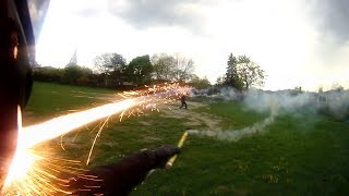 EPIC FIREWORK FIGHT! (Headshots and more)