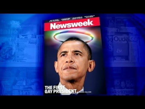Newsweek Cover Rivals Time Magazine in Controversy; Obama, Romney Clash Over Same-Sex Marriage