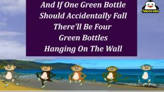 Ten Green Bottles | Kids Songs Karaoke