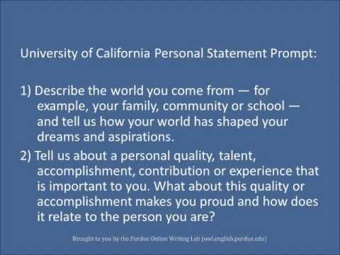 personal - This vidcast discusses how to create personal statements for school admissions and scholarships. To learn more about personal statement writing, please visit...