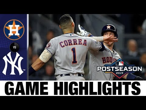 George Springer Carlos Correa power Astros to ALCS Game 4 win Astros-Yankees MLB Highlights