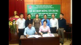 Ngân hàng chính sách xã hội Uông Bí: Ký hợp đồng tín dụng cho vay trả lương ngừng việc theo quyết định 32 của Thủ tướng Chính phủ