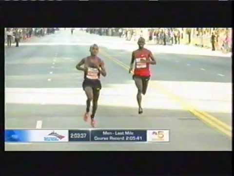 Tsegaye Kebede - This video clip shows the final minutes of the race as leader Tsegaye Kebede of Ethiopia was repeatedly pestered by Wanjiru's persistence. The Kenyan took th...