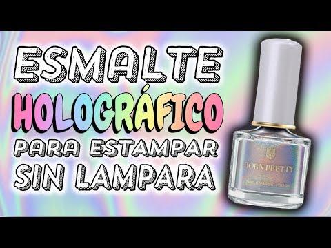 Videos de uñas - ¡LO HICE FUNCIONAR! · Esmalte Efecto HOLOGRÁFICO para Estampar BORN PRETTY