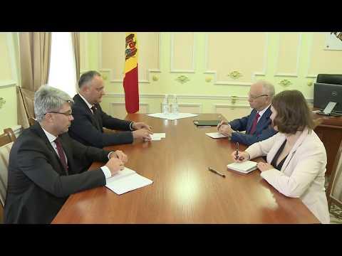 Președintele țării, Igor Dodon s-a întîlnit cu Ambasadorul Federaţiei Ruse în Republica Moldova, Farit Muhametșin
