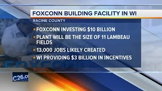 Invitation to Trump announcement says electronics giant Foxconn will build liquid-crystal display factory in Wisconsin.