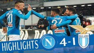 Video Napoli - Lazio 4-1 - Highlights - Giornata 24 - Serie A TIM 2017/18 MP3, 3GP, MP4, WEBM, AVI, FLV Maret 2018