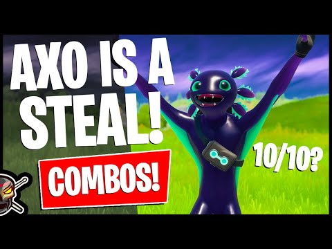 "The Most ""WORTH IT"" Skin Ever? AXO Combos! Skin Rating (Fortnite Battle Royale)"