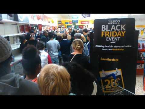 Black Friday in tesco Eastville. Madness