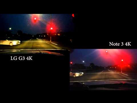 complete - Here's a comparison video between LG G3 vs. Galaxy Note 3 in complete darkness, recorded in 4K, rendered down to 1080P. Also see full 4K for LG G3 here: https://www.youtube.com/watch?v=nD6pqlYoWKc...