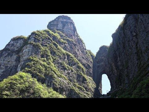 China's Tianmen Mountain in Stunning 4K