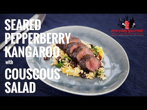 Seared Pepperberry Kangaroo with Couscous Salad | Everyday Gourmet S7 E64