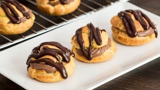 Chocolate Cream Puffs Recipe by Home Cooking Adventure
