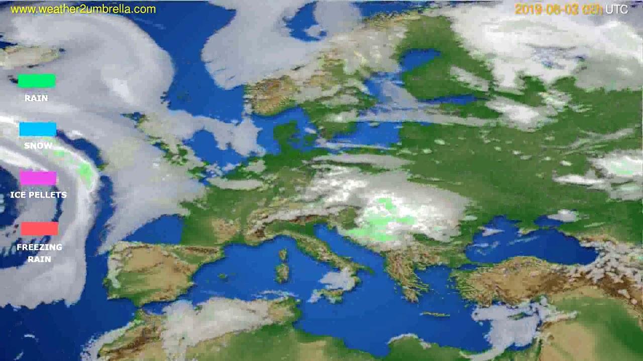 Precipitation forecast Europe // modelrun: 12h UTC 2019-07-31