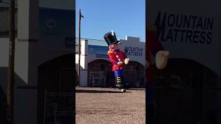 Inappropriate Nutcracker Inflatable Is WAY Too Excited For Christmas
