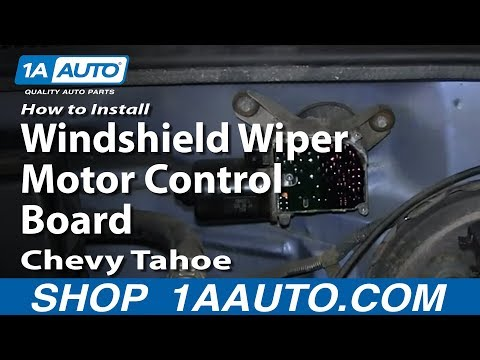 How To Install Replace Windshield Wiper Motor Control Board 1995-99 Chevy Tahoe GMC Yukon