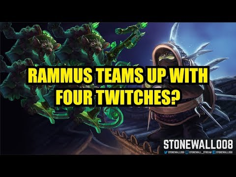 Rammus Teams Up With Four Twitches? (Kappa)