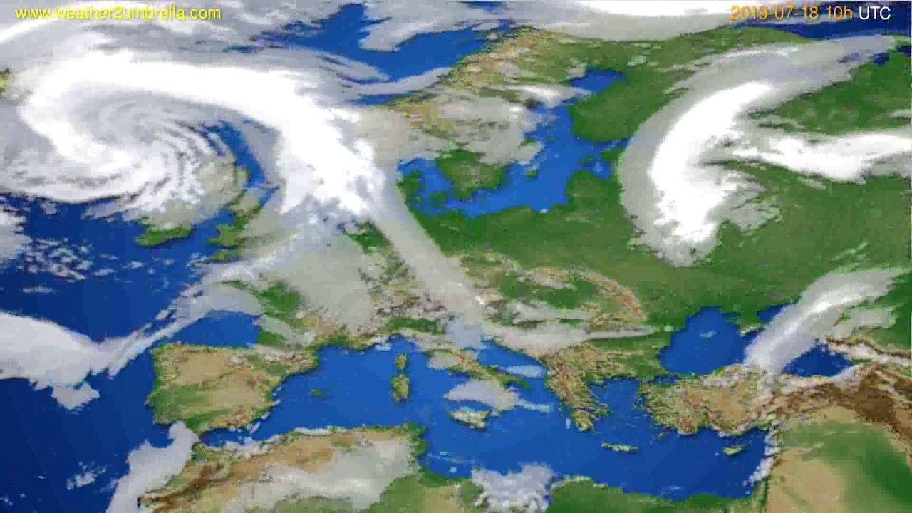 Cloud forecast Europe // modelrun: 12h UTC 2019-07-15